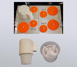 Der Calmetrix Intramix-Mischer ermöglicht das präzise Mischen einer Probe direkt im Kalorimeter, um die wahre Wärme der Hydratation von frühen Reaktionen zu messen; verfügbar für alle Calmetrix I-Cal HPC Modelle