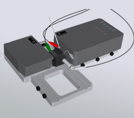 SEC2020 modulares kompaktes UV/Vis/NIR Spektrometer mit Spektro-Elektrochemie Durchflußzelle