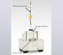 eQCM Messzelle für kombinierte Messungen Elektrochemie und Quarz-Mikrowaage