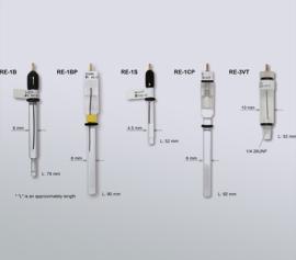 Verschiedene Ausführungen von Referfenzelektroden für unterschiedliche Einsatzzwecke width=