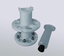 Spritzenadapter für 3, 5, 10 und 30ml EFD-Spritzen. 3-10ml nur für blaue Schraubkappe (Luer-Lock). width=