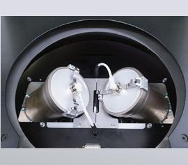 Zwillingsbehälteraufnahme 98mm Innendurchmesser mit Vakuumdeckeln (geschlossen)