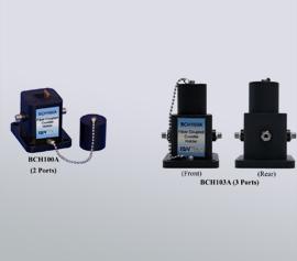 2-Wege-(Absorption und Transmission; BCH100A) und 3-Wege-(Absorption, Transmission und Fluoreszenz; BCH103A) Küvettenhalter (190 nm bis 2100 nm) mit SMA 905 Anschlüssen für Lichtfaserkabel incl. Kollimator-Optik