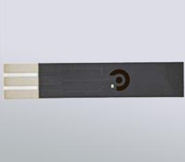 5cm (L) x 1cm (B) x 1mm (H), Aluminiumoxid-Grundsubstrat, Silber-Paste-Leiterbahnen und Kontakte mit chemisch resistenter Dielektrikumsschicht