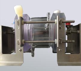 Detailaufnahme des Messzellen-Sets Galvanische Korrosion und Elektrochemisches Rauschen mit Heiz-Kühlmantel