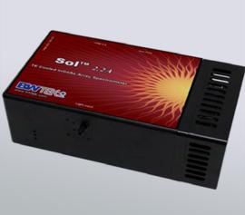 NIR TE-gekühlter InGaAs CCD-Array, 256 Pixel, Pixelgröße 50 µm x 250 µm; Gitter 85 g/mm, blazed b. 1350 nm; Schlitzbreite 50 µm, Wellenlängenbereich 900 nm bis 2200 nm, Auflösung 15 nm