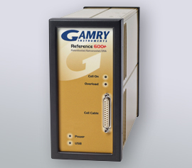 Gamry Reference 600+ Potentiostat/Galvanostat/ZRA without high frequency cell cable (HF; 60cm) for corrosion (DC), impedance spectroscopy (EIS), physical electrochemistry (PHE), pulse voltammetry (PV), electrochemical noise (ESA) and electrochemical energy (PWR) incl. schwebende Masse (galv. Trennung von der Schutzerdung)