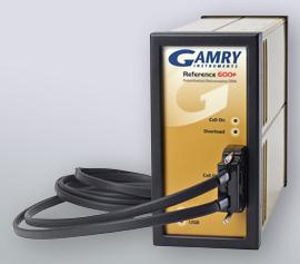 Gamry Reference 600+ Potentiostat/Galvanostat/ZRA mit Hochfrequenz-Zellkabel (HF; 60cm) für Impedanzspektroskopie (EIS) bis max. 5 MHz incl. schwebende Masse (galv. Trennung von der Schutzerdung)