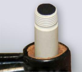 Evaluierungsmesszelle für Batteriematerialien (LIB) incl. Halter mit vier Normschliffen (NS14/20) für 25 ml Zellvolumen; leicht zu reinigende Rundprobe, luftdicht verschließbare konische PTFE-Verbindungen. Montage in der Handschuh-Box und elektrochemische Tests im Freien sind möglich