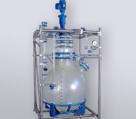 400 Liter Ausrührgefäß mit großem Handloch und EX Rührer