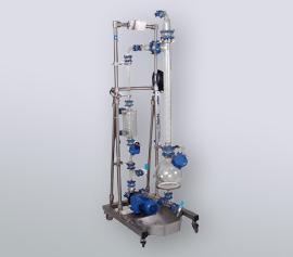 6 Liter Gaswäscher mit Auffangwanne im Edelstahlgestell, mobile Ausführung