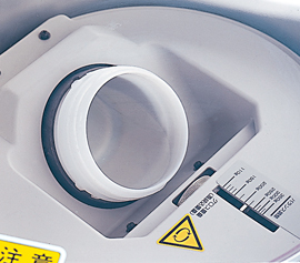 77 mm Becherhalter zur Aufnahme zahlreicher Behälter oder Kartuschen mittels Adapter. Im Lieferumfang enthalten: Adapter für 61mm Dosen
