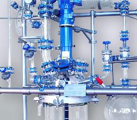 Glasrührapparat 15 … 60 (100) Liter mit Destillationsaufbau und Ex geschütztem Motor