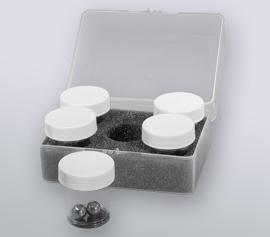 Zellaufschluss-Mühle SPEX 2010 Geno/Grinder® – Rack für 5 x 15ml Einzel-Tubes mit bereits mit je zwei 11mm Edelstahl-Mahlkugeln befüllten Gefäßen (Artikel-Nummer 2250), Einsatz von bis zu 4 bestückten Racks parallel möglich