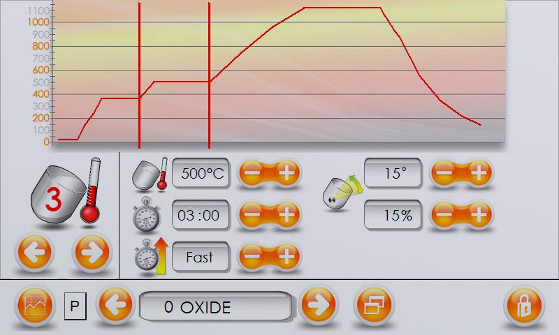 Katanax Fluxer K1 Prime – Grafisches Bedieninterface über Farb-LCD Touchscreen mit Echtzeit-Temperaturanzeige