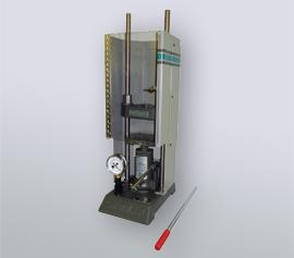 Manuelle SPEX Handhebelpresse 3621 Typ Carver® mit geschlossener Sicherheitstür und abnehmbarem Handhebel width=