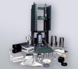 Manuelle SPEX Handhebelpresse 3622 Typ Carver® mit Sicherheitstür und diversem Zubehör width=