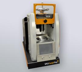 Vollautomatische SPEX Presse 3636 X-Press® mit geöffneter Sicherheitstür