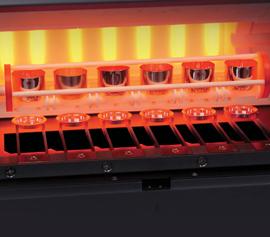 Katanax X-Fluxer® X-600 – Innenansicht bei geöffneter Ofentür