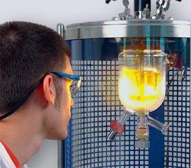 visuelle Prozesskontrolle mit Glasreaktor