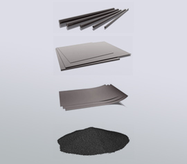 Glaskohlenstoff (Glassy Carbon) Filme Platten Pulver Stäbe