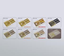 Inter-Digital Elektroden mit Gold-, Platin-, ITO-, Kohlenstoff-Elektroden mit oder ohne Passiv-Membran width=