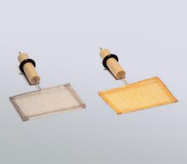 Netzelektroden als Arbeitselektroden aus Gold oder Platin