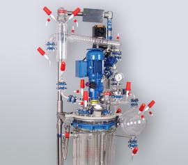 büchiflex - wichtiger Bestandteil in Glasapparaturen am Beispiel des 10 Liter Minipilot-Reaktors