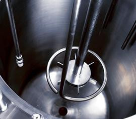 Turbinen Rührer und Gaseinleitrohr für effizienten Gaseintrag beim pilotclave