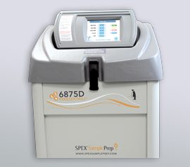 SPEX Kryomühle 6875D Freezer/Mill® mit geschlossenem Deckel, betriebsbereit width=