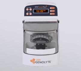 Zellaufschluss-Mühle SPEX 1200 GenoLyte®, mit geschlossenem Deckel, betriebsbereit, Frontansicht