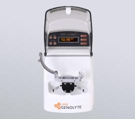 Zellaufschluss-Mühle SPEX 1200 GenoLyte® mit geöffnetem Deckel und geöffneter Probenhalterung, unbeladen