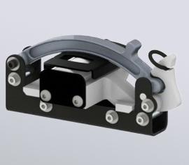 Laborkugelmühle SPEX SamplePrep 5120 Mixer/Mill® - geschlossene Probenhalterung mit eingelegtem 3,5ml Achat-Probenbehälter (Artikel-Nummern 1217 und 3120)
