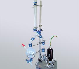 Vakuum Destillation, am Druckreaktor hinter Absperrarmatur