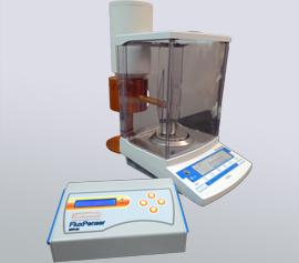 SPEX Sampleprep Katanax XFP-01 FluxPenser® - Steuerung mit Waage, Dosiereinheit und Schmelzmittelflasche, betriebsbereit.