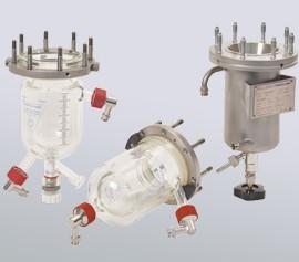 Verschiedene Reaktoren aus Glas oder Metall